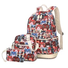 Owl Backpack Fashion Printing Feminine Backpack Youth Teenage Backpacks For Teen Girls Boys Women Bagpack Girl Mochila Feminina