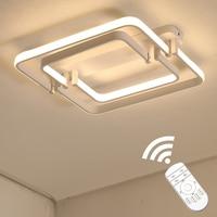 Touch Remote Dimming Modern plafon LED Ceiling Lamp Fixture Aluminum Dining Living Room Bedroom Lights Lustre 45cm 55cm