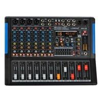 LOMOEHO AM 08 4 моно + 2 стерео 8 каналов Bluetooth USB запись компьютера запись 48 В в Phantom Professional DJ аудио микшер
