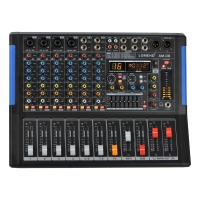 LOMOEHO AM 08 4 Mono + 2 Stereo 8 Channels Bluetooth USB Record Computer Record 48V Phantom Professional DJ Audio Mixer