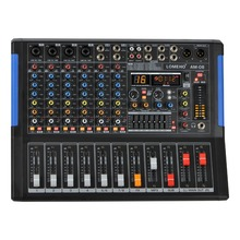 LOMOEHO AM-08 4 Mono + 2 Stereo 8 Channels Bluetooth USB Record Computer Record 48V Phantom Professional  DJ Audio Mixer