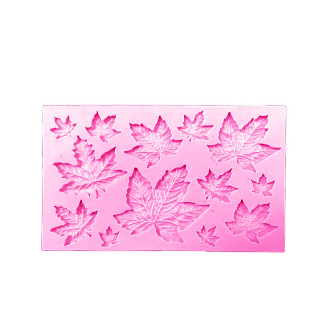 DIY Maple Leaf Silicone Cupcake Baking Mold Christmas Fondant Cake Decorating Tools Gumpaste Chocolate Candy Clay Moulds