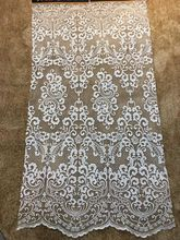 New Arrival High Quality net Lace Fabric  Fashion Embroidery African For Wedding