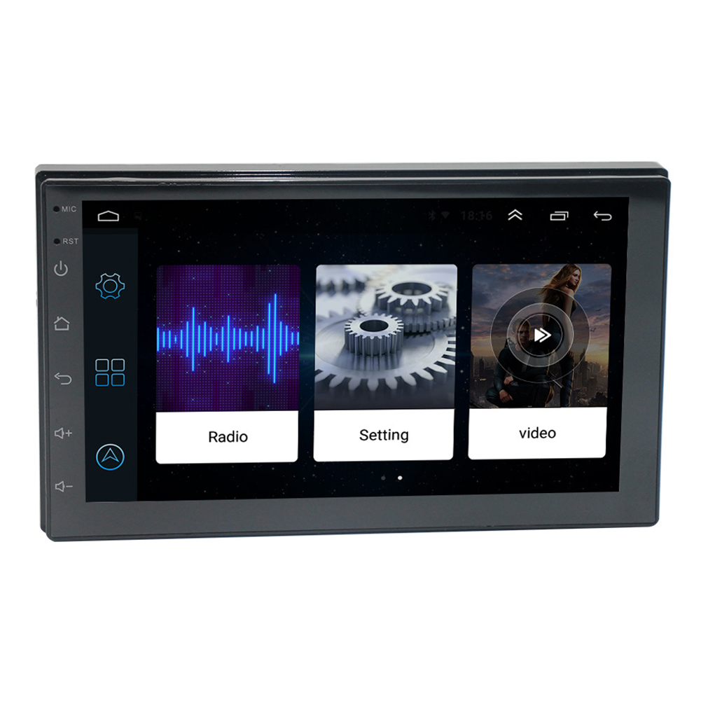 7 Inch MP5 Player Online Android 8.1 Radio WIFI Double Din Audio Bluetooth Music GPS Navigation Car Mirror Link Multimedia HD