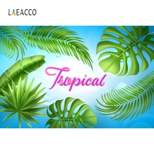 Laeacco Tropical Palm Tree Leaves Summer Portrait Photography Backgrounds Customized Photographic Backdrops For Photo Studio