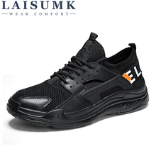 LAISUMK 2019 Casual Breathable Mesh Light Sneakers Male For Men Shoes Adult Spring Rubber Non Slip Wear Resisting Footwear