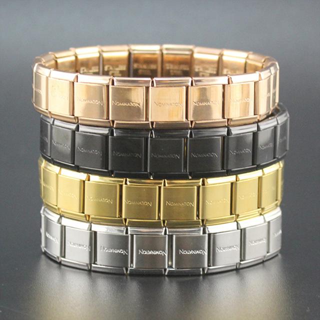 hapiship 2018 модные мужские женские украшения 13 мм ширина золото серебро письмо из нержавеющей стали 20 ссылки браслет для друг g003