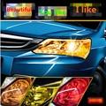 30cm x100cm Auto Car Light Film Headlight Taillight Fog Light Tint Vinyl Film Sticker Sheet Sticker For Car Universal 12 Colors