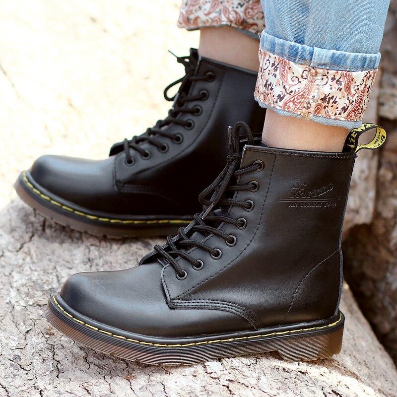Мужские ботинки Martens, сезон весна-осень, прогулочные ботинки, цвет коричневый, винно-красный, мужская обувь на толстой подошве, удобная класс...