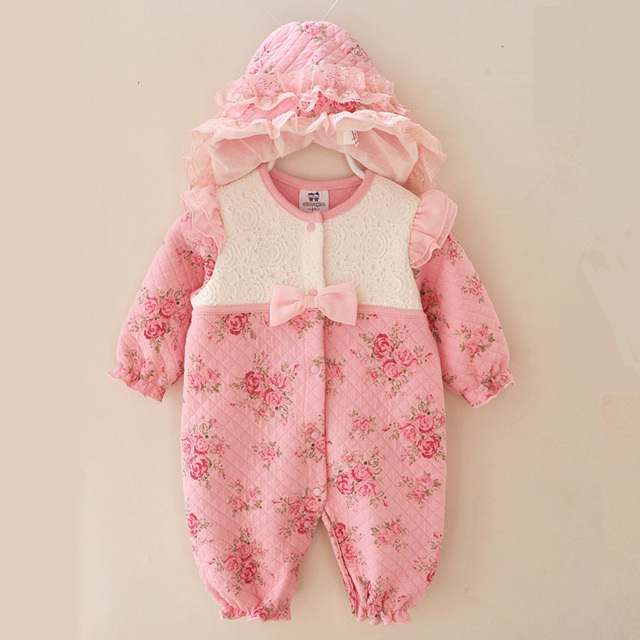 Newborn Baby Girl Kids Clothes 0 3 Months Formal Rompers Winter
