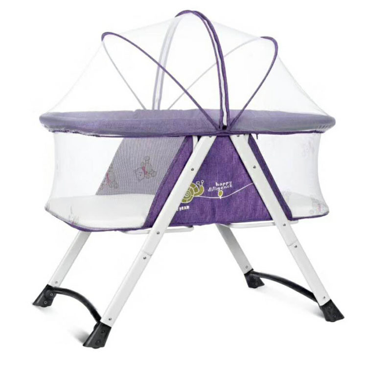 Newborn Baby Cradle Bed Portable Folding Baby Bed Play Cribs Can Push Baby Nest