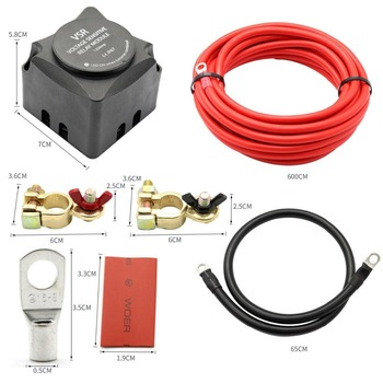 12V 140A Smart Dual Battery Isolator VSR Voltage Sensitive Relay & Wiring Cable Kit