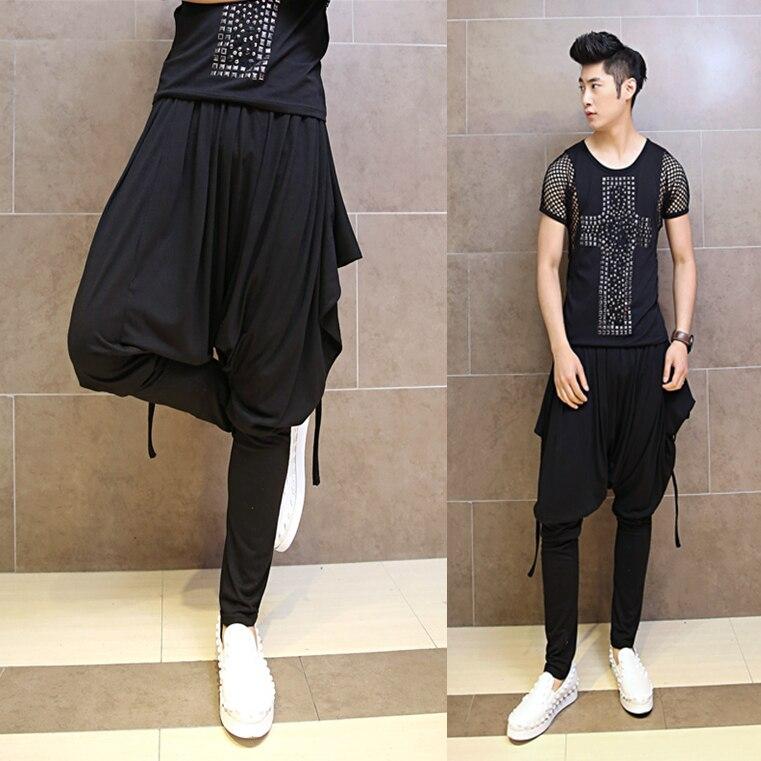 2017 Man Runway Style Nightclub Harem Pants Men Korean Fashion Personality Original Harem Pants