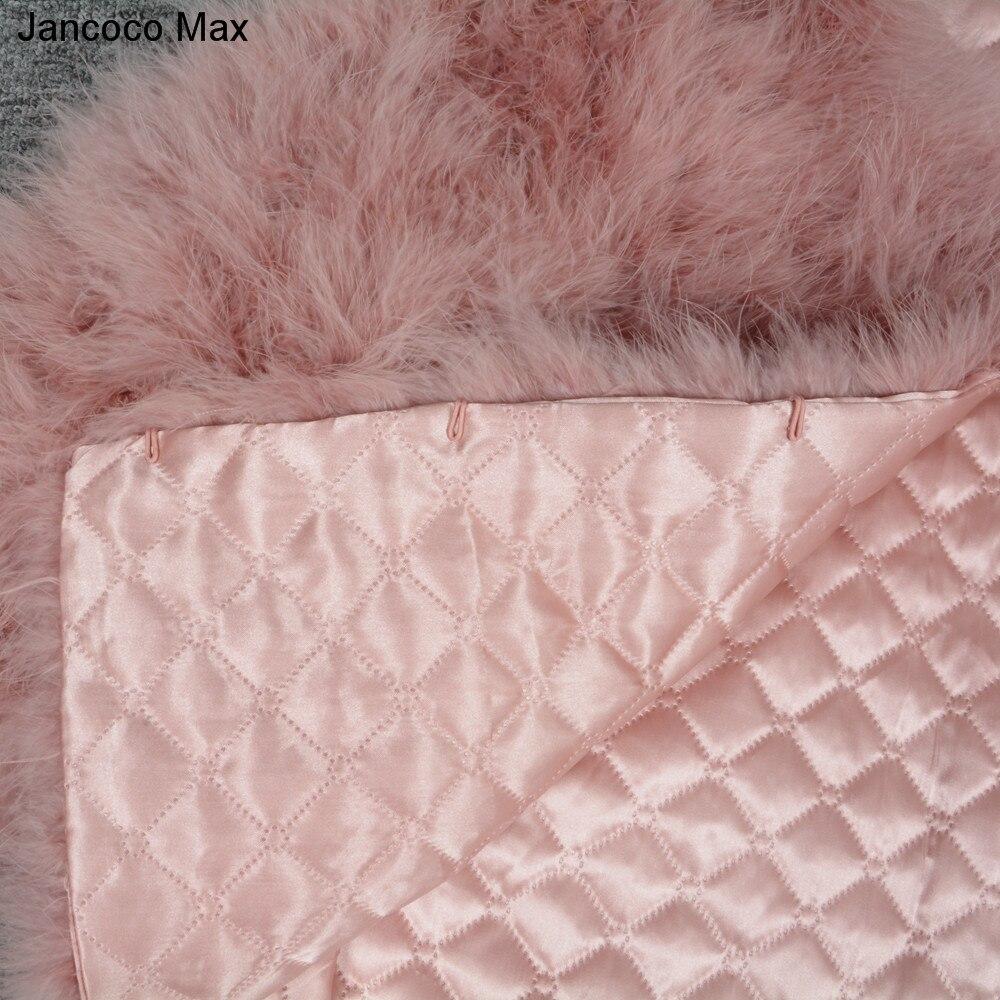 Jancoco Max S1002 Moterys 2019 Nekilnojamasis kailių paltas Tikras - Moteriški drabužiai - Nuotrauka 6