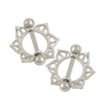 Hot 1 Pair Unisex Charm Personality Alloy Heart/Wing/ Flower