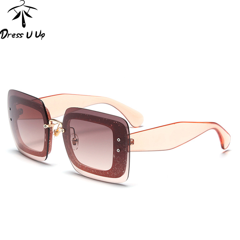 DRESSUUP New Cat Eye Solglasögon Kvinnor Märke Designer Square Stor Ram Vintage Sun Glasses Oculos De Sol Feminino UV400