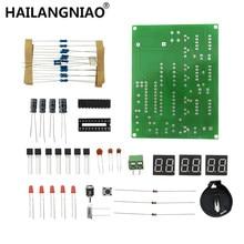 10 pçs diy kits at89c2051 relógio eletrônico digital tubo display led conjunto de peças e componentes eletrônicos dc 9 v 12 v
