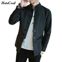 2018 Fashion New Plus Large Size Chinese Style Jackets Solid Men S Retro Ethnic Style Outerwear