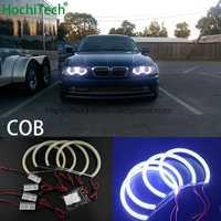 HochiTech for BMW 98-05 E46 sedan touring with PROJECTORS car styling Ultra Bright White LED COB Angel Eye Halo Light Error Free