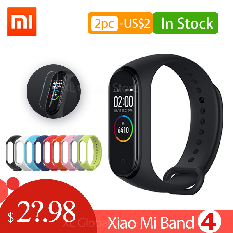 Xiaomi Mi Band 4 Global 135mAh Miband 4 Color Screen Bluetooth5.0 Wristband Fitness HeartRate Bracelet Chinese