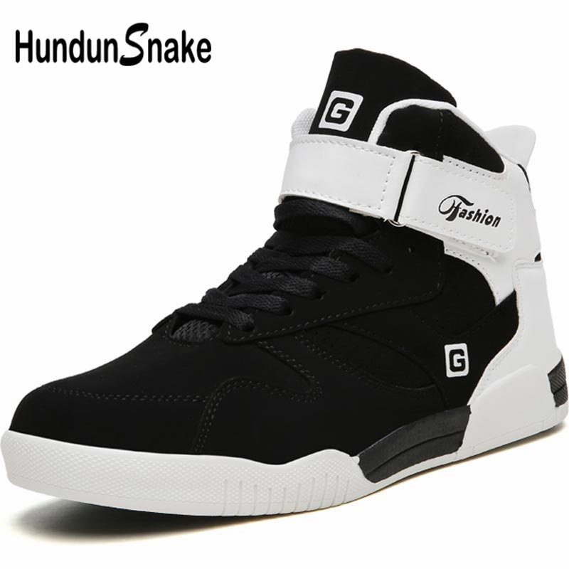 Hundunsnake Big Size Running Shoes For Men Sneakers Men Sport Shoes Sports Male Shoes Adult High Top Trainer Black Walking B-014