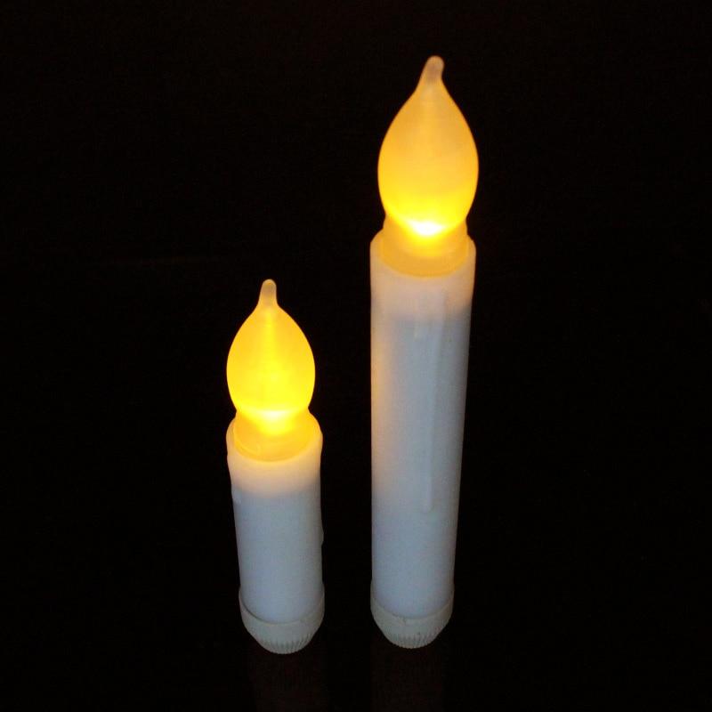 Duża promocja Świeca nocna lampka LED Moving Kolorowy płomień - Lampki nocne - Zdjęcie 3