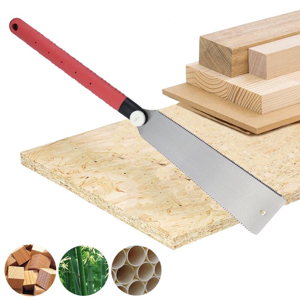 Купить с кэшбэком 10-inch Double Edge Razor Saw Hand Saw 6-10/18TPI Wood Cutter Pull Saw For Garden Pruning Bamboo PVC Wood DIY Woodworking Tool