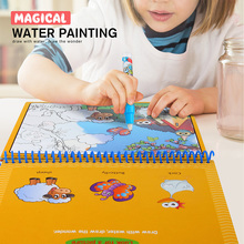 Coloring Book Water Drawing Painting Baby Kids Toys Mat Board with Magic Pen Doodle for Children Drawing Early Educational(China)