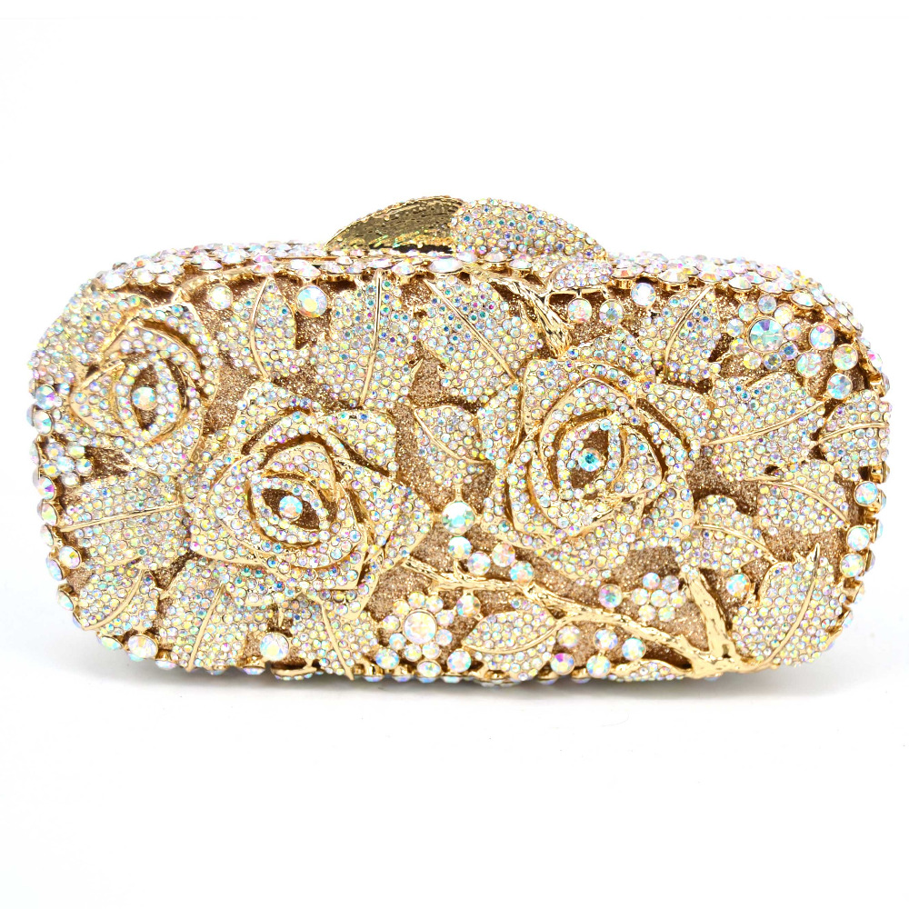 Rose Diamonds Full Rhinestones Womens Evening Clutch Bag Party Prom Wedding Purse Fashion Hot Selling Chain Shoulder Purse Q04Rose Diamonds Full Rhinestones Womens Evening Clutch Bag Party Prom Wedding Purse Fashion Hot Selling Chain Shoulder Purse Q04