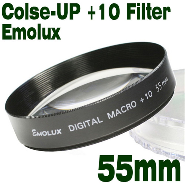US $10 28 20% OFF|New Digital Camcorder Camera Filter Emolux 55mm+10 Close  Up For Sony Nikon Samsung Canon Olympus Pentax for all 55mm camera-in