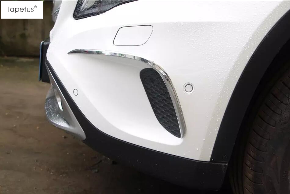Accessories For Mercedes Benz GLA 200 220 X156 2015 2016 2017 Front Fog Light Foglight Lamp Eyelid Eyebrow Lid Cover Kit Trim