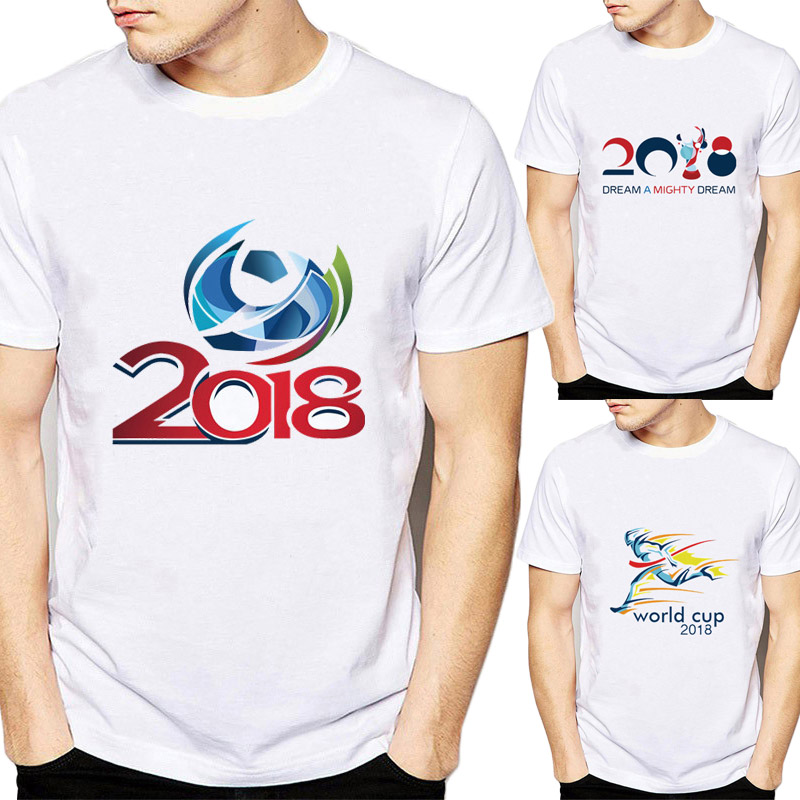 New Arrivals T Shirt Men The 2018 Russia Footbal World Cup ...