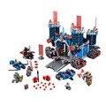 1166 Шт. Nexus Рыцари Fortrex Замок Строительный Блок Глины Аарон Лиса Axl Совместим с подарком 70317 Образования