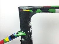 2019 vias carbon frame road bikec Disc brake UD glossy blue sea BB386 thru axle 100*12 142*12mm light road bike Racing car rack