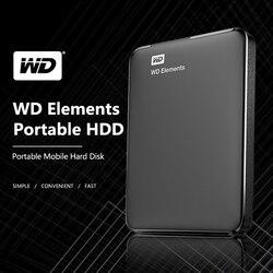 ويسترن ديجيتال WD Elements USB3.0 الخارجية hdd 1 تيرا بايت HD 2.5 قرص صلب محمول 2 تيرا بايت 4 تيرا بايت Hdd المحمولة لأجهزة الكمبيوتر المحمول