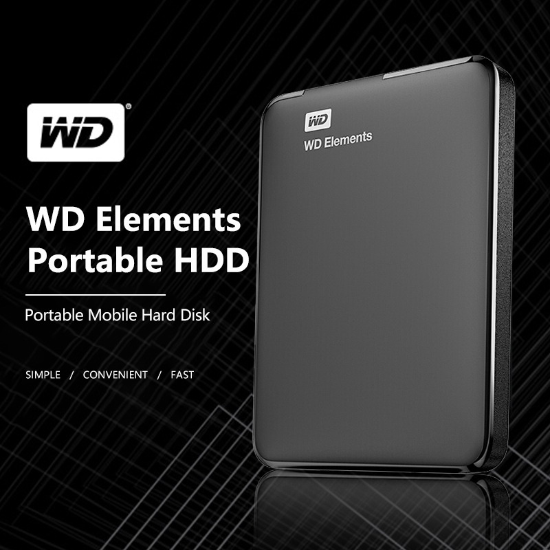 "Western Digital WD Elements USB3.0 External Hdd 1TB HD 2.5"" Portable Hard Drive Disk 2TB 4TB Portable Hdd For PC Laptop"