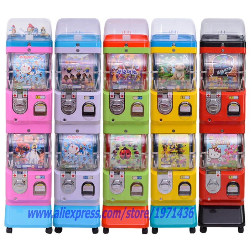 Free Shipping Coin Operated Games Gumball Capsules Toy Vending Game Machine