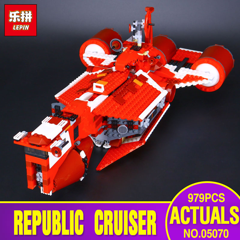 New Lepin 05070 The Republic Cruiser Set Children Educational 963Pcs Star War Series Building Blocks Bricks Toys Model Gift 7665 new lepin 16042 pirate ship series building blocks the slient mary set children educational bricks toys model gift with 71042
