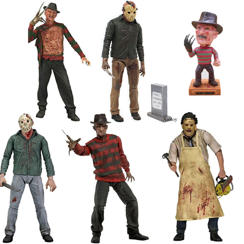 Horror Friday The 13th Freddy Krueger Vs. Jason Voorhees A Nightmare On Elm Street Texas Chainsaw Massacre PVC Action Figure Toy