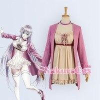Возвращение королей K аниме II Neko кошка Аниме Лолита модные юбки партии Косплэй костюм розовое пальто коричневое платье на заказ любой Разме
