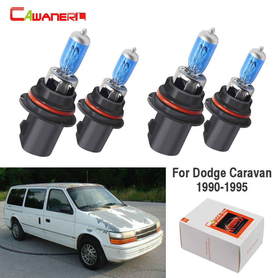 small resolution of cawanerl 4 pieces 9004 9007 100w halogen bulb 4300k 12v car light headlight hi lo