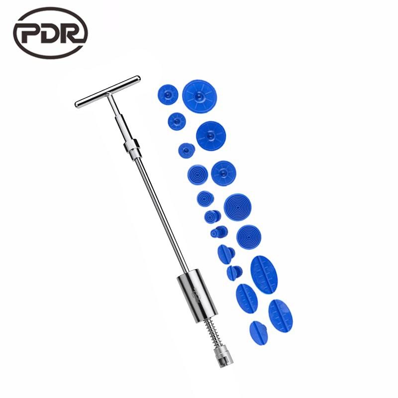 PDR Tools Auto Repair Tool Car Dent Repair Dent Puller Kit 2 in 1 Slide Hammer Reverse Hammer Glue Tabs Suction Cups Fungi