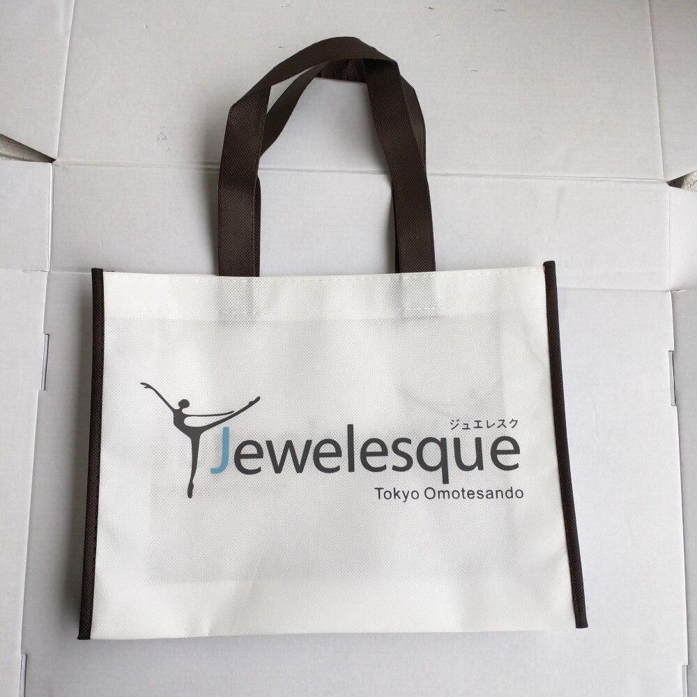 500 teile/los Reusable Non Woven Einkaufstasche Tasche Werbe Tasche mit Custom Logo Kostenloser Versand Giveaway Geschenk Handtaschen Großhandel-in Einkaufstaschen aus Gepäck & Taschen bei  Gruppe 2