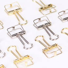 5 Pcs Multifuncation Korean Novelty Paper Clips Colorful Metal Hollow Out Binder Files Notes Letter Office School Supplies