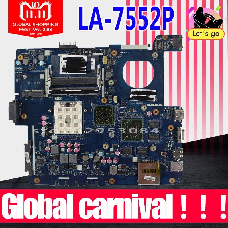 K53TK Carte Mère LA-7552P RAM Pour ASUS K53TA K53TK X53T K53T Mère d'ordinateur portable K53TK Carte Mère K53TK Carte Mère test 100% OK