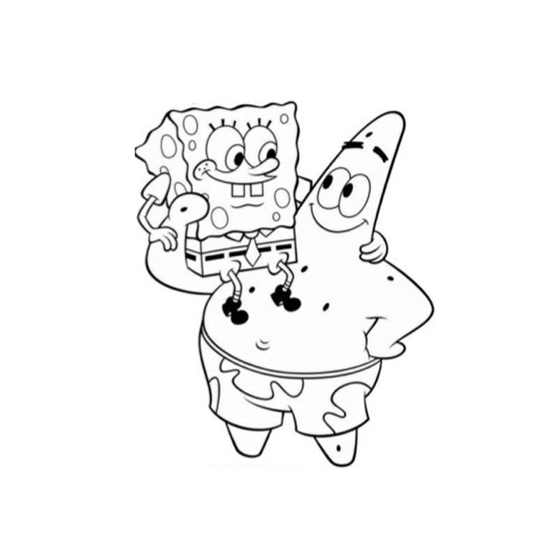 1 PCS Kawaii Spongebob Stamp DIY Novelty Toy Self Inking