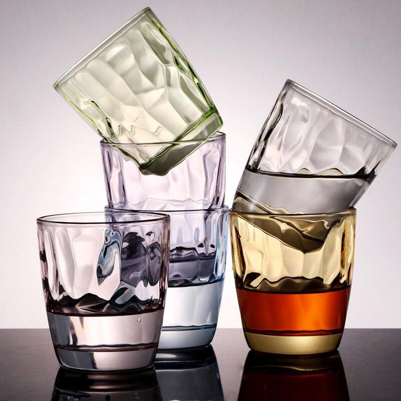 6 pièces de verre à eau de couleur ensemble verre à bière cadeau promotionnel tasse