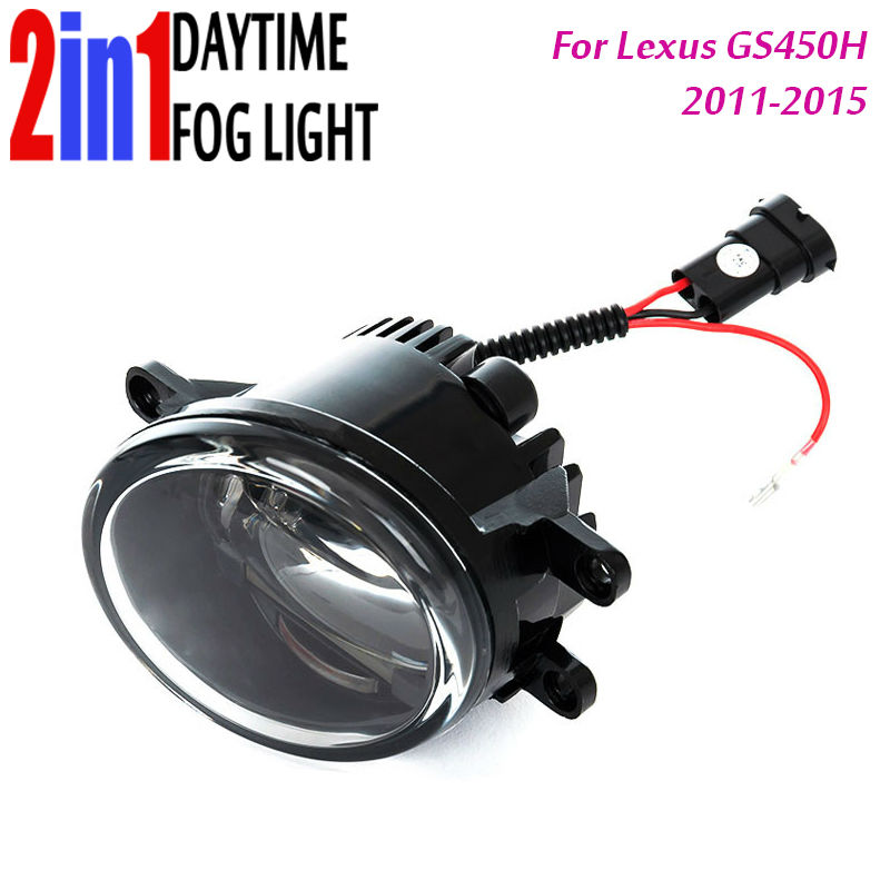 for Lexus GS450 Led Fog Light with DRL Daytime Running Lights with Lens Fog Lamps Car Styling Led Refit Original Fog Assembly купить