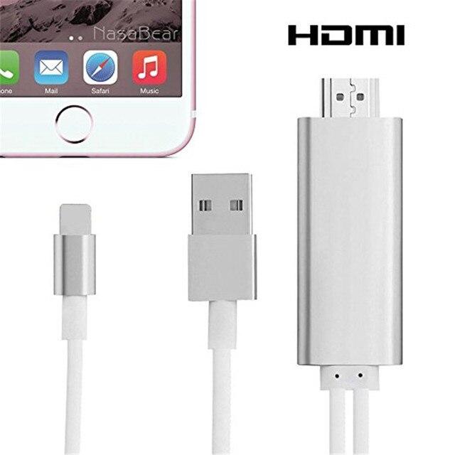 HDMI Кабель для iphone ipad HDMI Кабель Для iphone к ТЕЛЕВИЗОРУ Mhl HDMI Кабель 1080 P HDTV Кабель-Адаптер Для iphone 7 5 5S 6 6 S ПЛЮС
