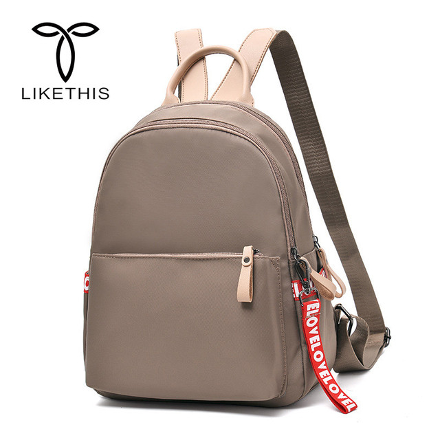 d6c888351cad 19 inch Women s Backpack 2018 New Fashion Trend Bag Casual Backpack Oxford  Cloth School Rucksack Multi